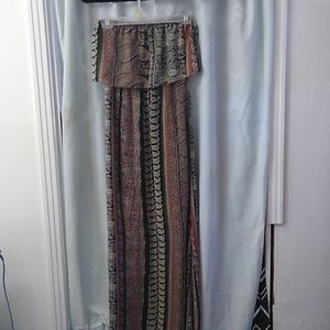 Wet Seal multi color camo maxi dress